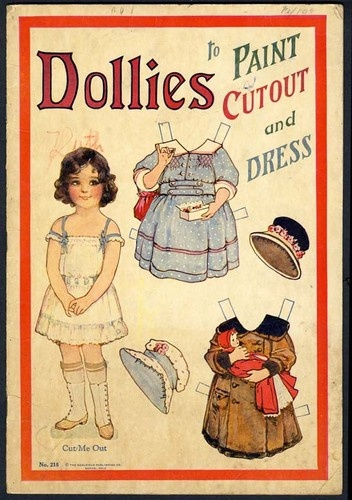 FRANCES BRUNDAGE Saalfield DOLLIES PAINT & CUTOUT & DRESS Paper Doll Book - 1910