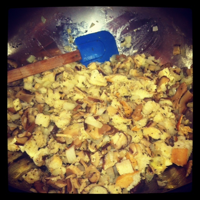 Are You Gonna Eat That?: Shiitake and Sourdough Stuffing