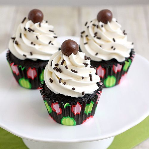 Chocolate Malted Cupcakes | Tracey's Culinary Adventures