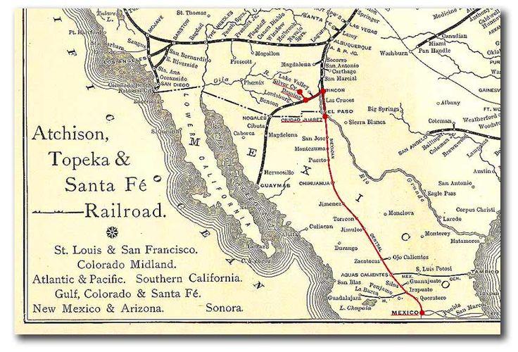 Atchison Topeka Amp Santa Fe Railroad Map  Santa Fe Trail