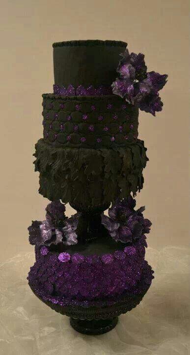 Gothic Wedding Cake Wedding Pinterest