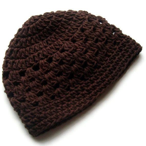 Crochet Mens Hat : Beanie Hat, Mens Crochet hat, Womens Crochet Hat, Plain Crochet Hat ...