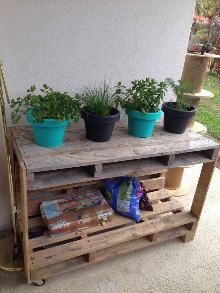 meuble de jardin en palettes autour du jardin pinterest. Black Bedroom Furniture Sets. Home Design Ideas