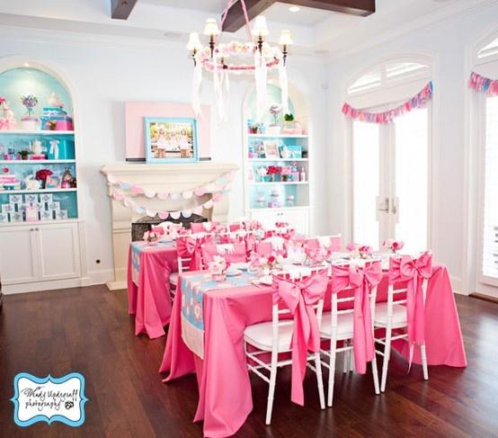 tea party party room little girl 39 s tea party pinterest