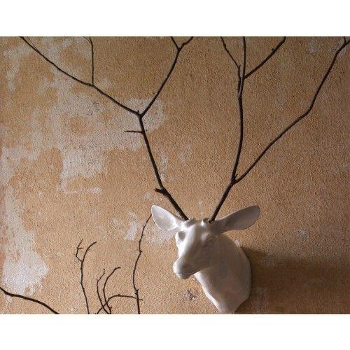 white porcelain deer head