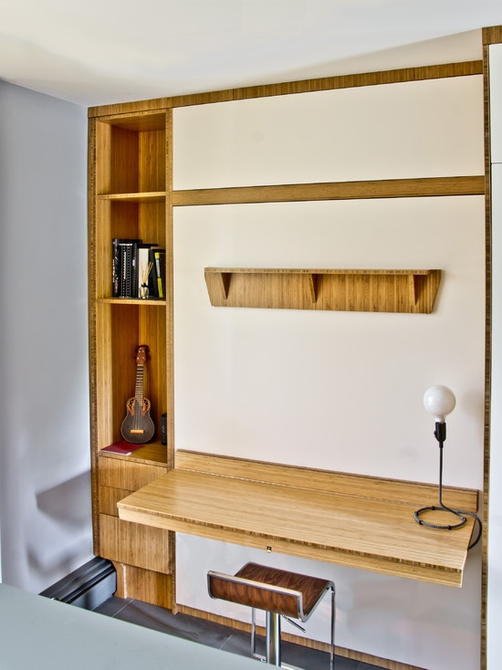 Murphy bed with desk | Home office | Pinterest