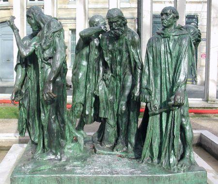 Auguste rodin les bourgeois de calais sculptures for Courant artistique