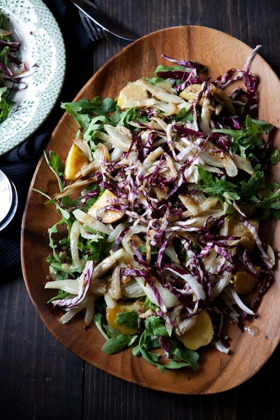 Savory Roasted Fennel Salad with Bagna Cauda Dressing (buttery garlic ...