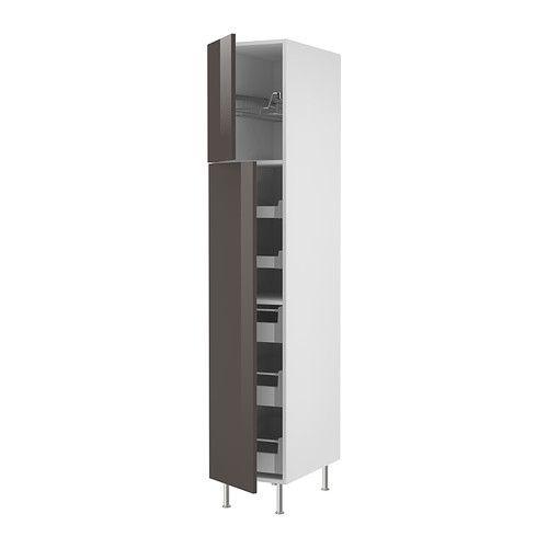 Ikea Kitchen Island Support ~ AKURUM High cabinet w drawers wire basket, white, Abstrakt gray also