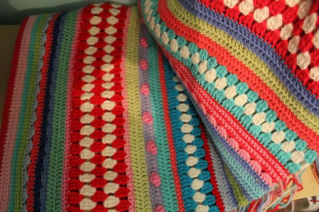 Crochet Stitches Multicolor : Multi-stitch crochet blanket crochet + knit Pinterest