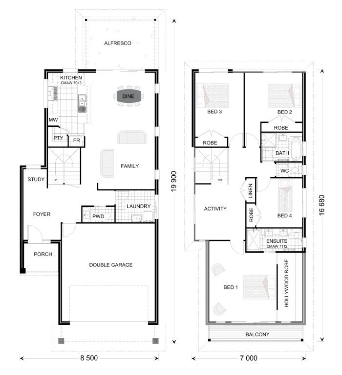 Double storey house plans house plan ideas pinterest for Double storey beach house designs