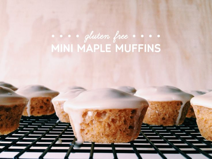 GF,DF,SoyF Mini Maple Muffins (makes 24 mini muffins)