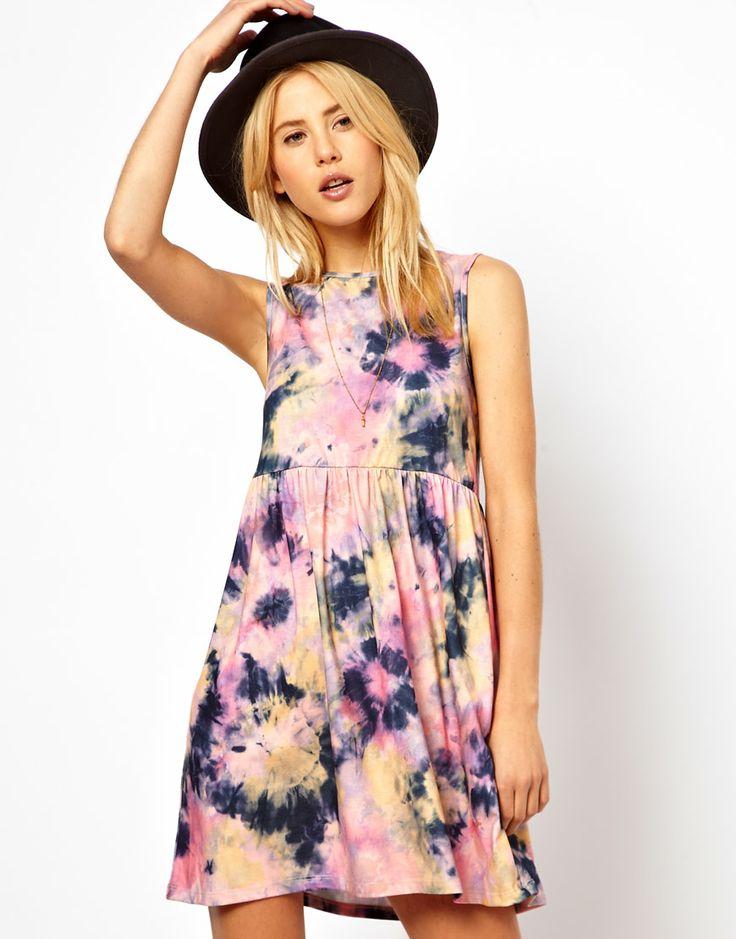 asos smock dress in tie dye print clothes stuff