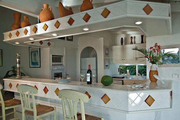 Kitchen Bar Tiled Home Decor Design Creole Flavor Interior