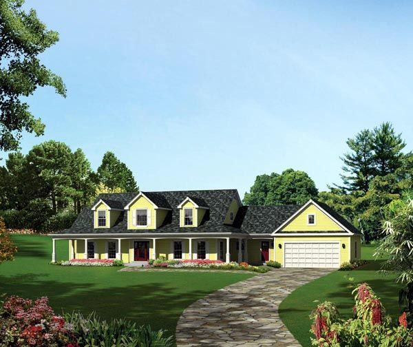 Cape Cod Colonial Country Southern Traditional House Plan