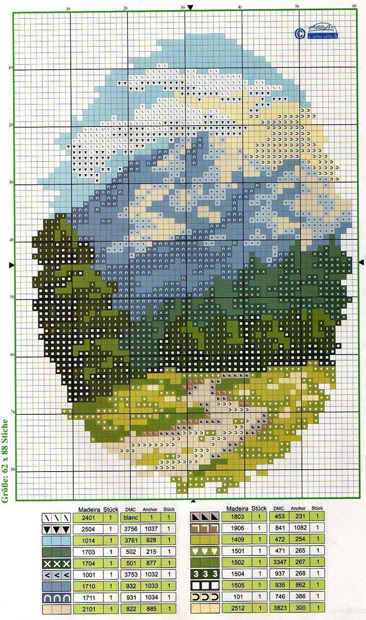 Схемы вышивки крестом миниатюры природа 52