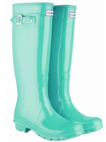 Hunter turquoise rain boots