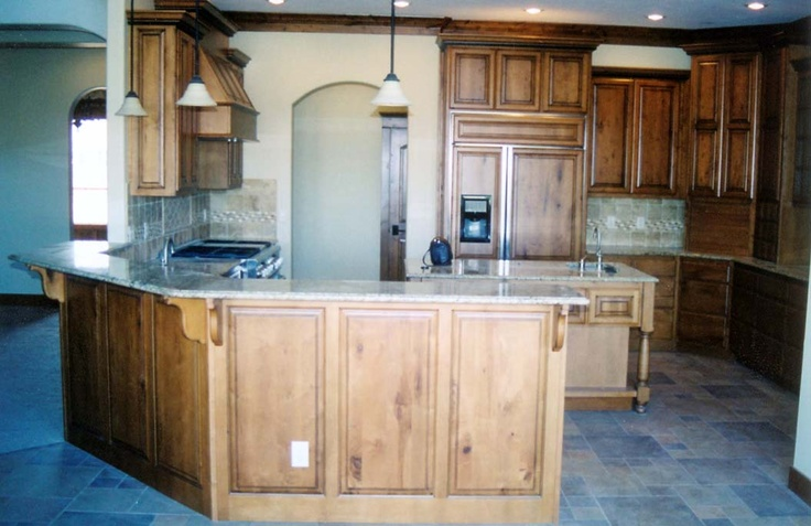 kitchen with island and large raised bar home decor i