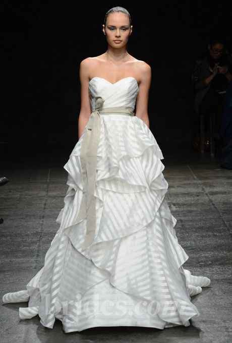 Hayley Paige Fall 2013 Stripes Gorgeous Gowns Wedding