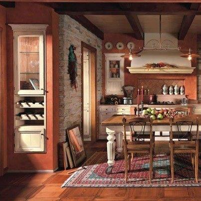 rustic warm kitchen home decorating pinterest