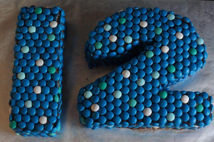 12 year old birthday cake numbers | Pollyanna | Pinterest