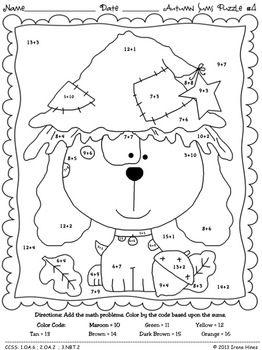 all worksheets color by number worksheets for first grade common worksheets fall worksheets - Fall Worksheets For First Grade