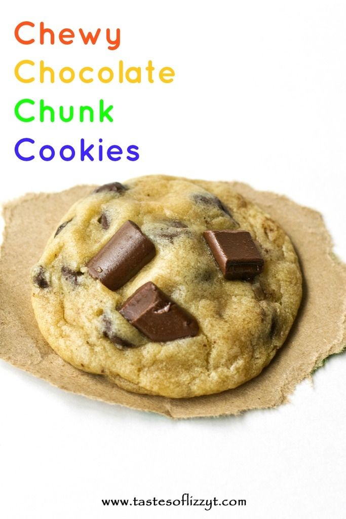 Chewy Chocolate Chunk Cookies {Tastes of Lizzy T} The best chocolate ...