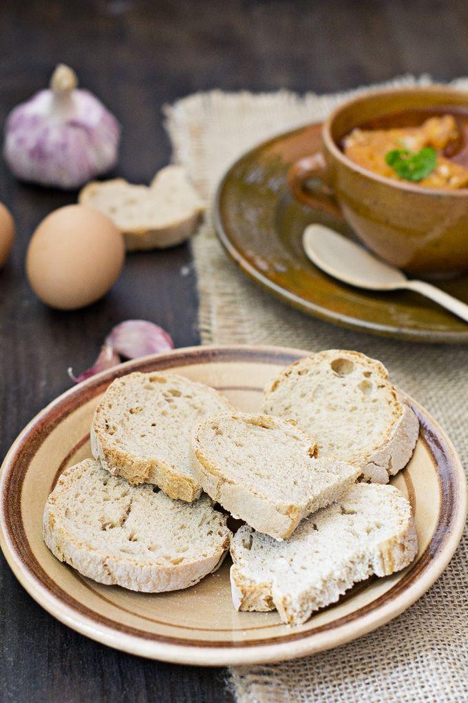 garlic soup - sopa de ajo | My Recipes | Pinterest