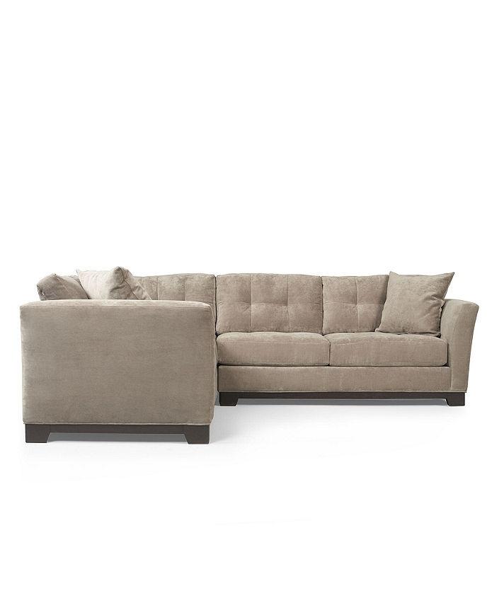 Elliot Fabric Microfiber 2-Piece Sectional Sofa