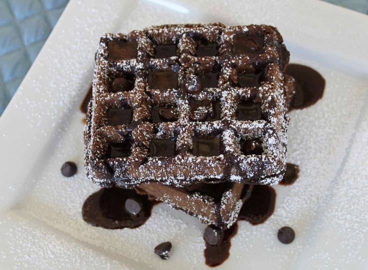 Chocolate Waffles with Chocolate Sauce | CHOCOLATE!!!!! | Pinterest