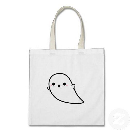 Cute Kawaii Ghost Tote Bags