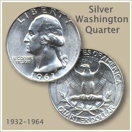 Uncirculated silver washington quarter a trail of money pinte