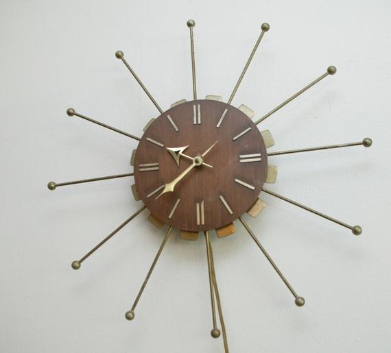 wall clock mid century modern mid century modern pinterest