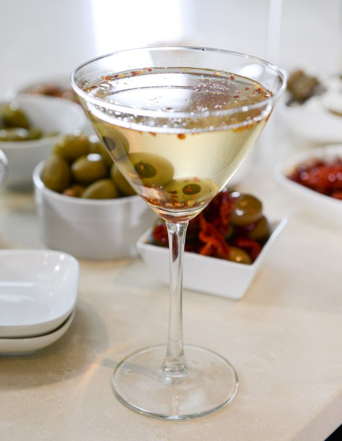 Drink Recipes for Entertaining | Extra Dirty Martini Bar