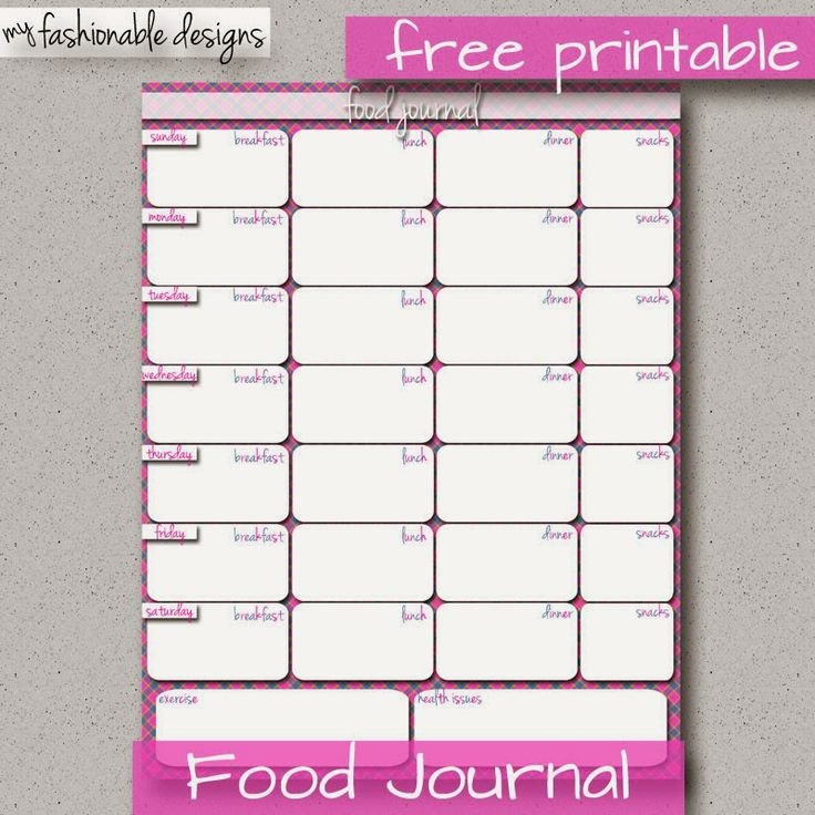 FREE Printable Food Journal | 21 day fix | Pinterest