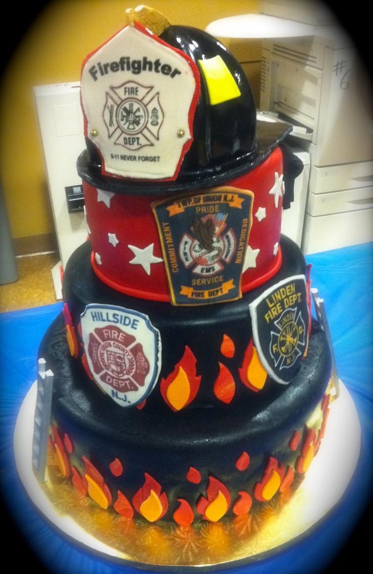 Firefighter Graduation Cake