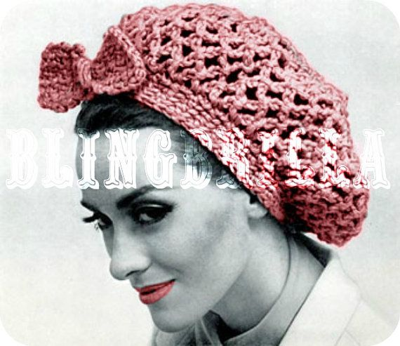 Free Knitting Patterns For Snoods : Fast and Easy Vintage Fish Net Snood 1960s Crochet PDF Pattern  363