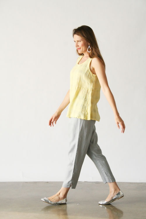 Flax Linen Clothing For Women   Product Image: Ankle Pant Bold in FLAX