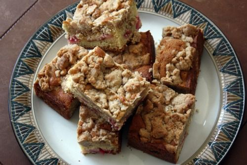 "Rhubarb ""Big Crumb"" Coffee Cake 