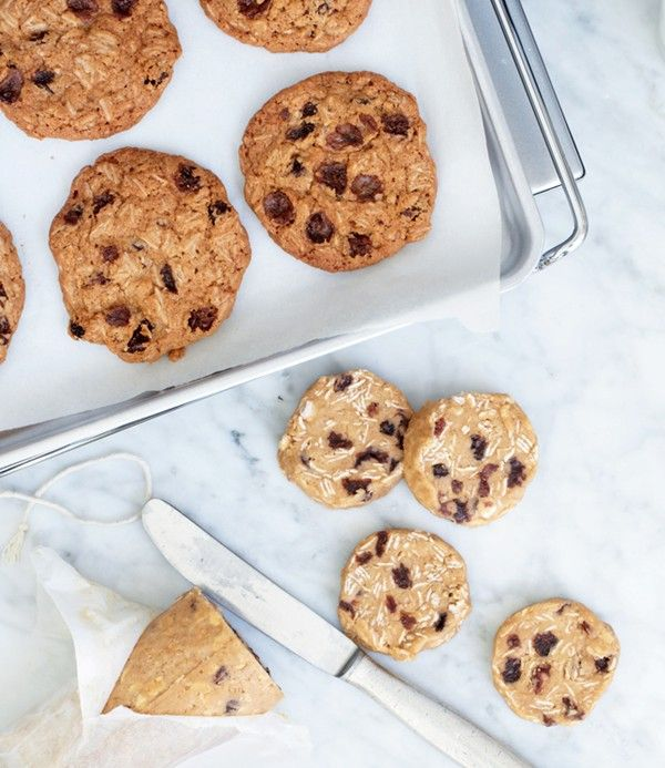 Slice-and-bake oatmeal raisin cookies | Yummy | Pinterest