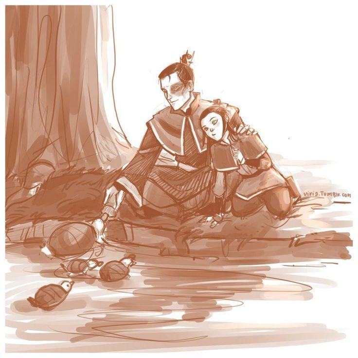 Zuko his daughter and turtle ducks