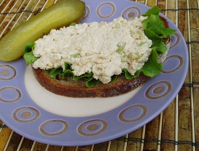 Tofu Salad Sandwich Spread - or use mashed garbanzo beans instead of ...