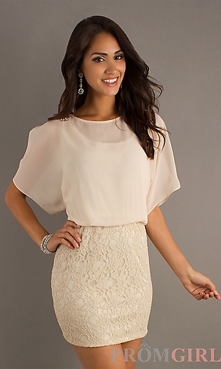 Short dress with lace skirt at promgirl com christmas dance dress