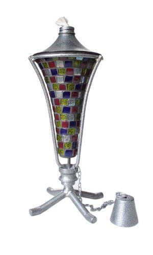 12 Inch Con Mosaic Multi Pewter Table Torch by Backyard Bargain $999