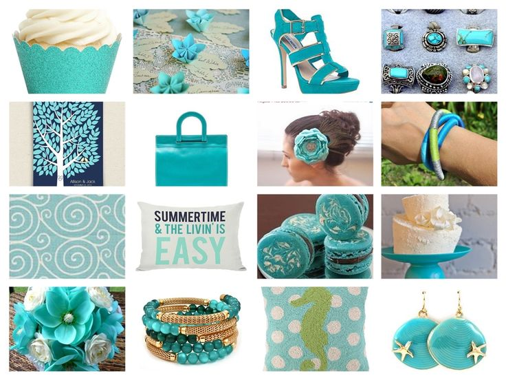 cool and refreshing summertime color palette