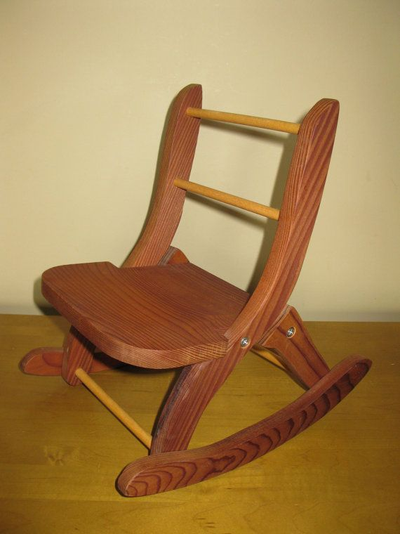 ... Wooden DOLL Rocking Chair - folding chair- 18