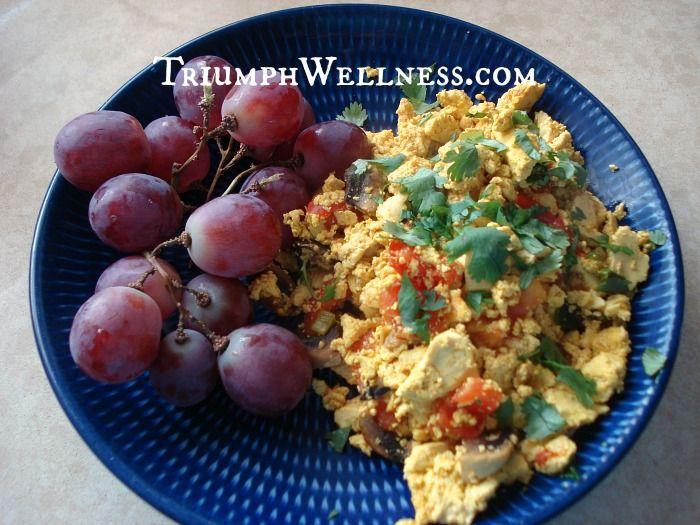 tofu scramble with turmeric | Culinary: Savory | Pinterest