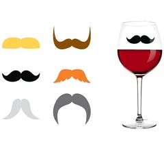 Dapper Staches Drink Markers Set