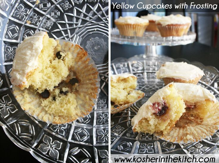 best yellow cupcake with frosting | Muffins + Cupcakes | Pinterest