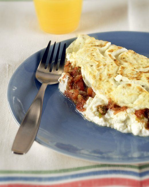 Egg-White Omelet with Goat Cheese: super easy recipe, throw in any ...
